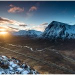 Glencoe-facing direct sunlight