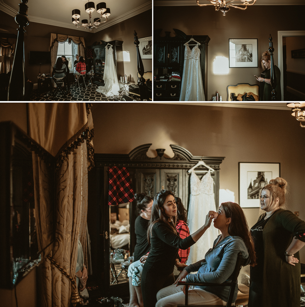 Bride getting ready at Ardoe House