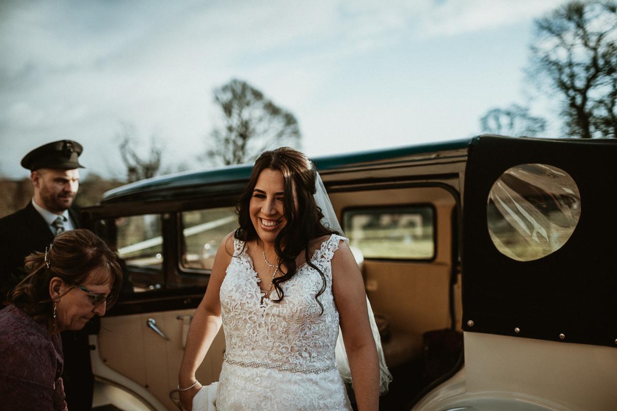 Bride right before ceremony