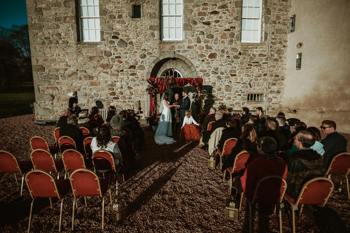 wedding at castle Fraser