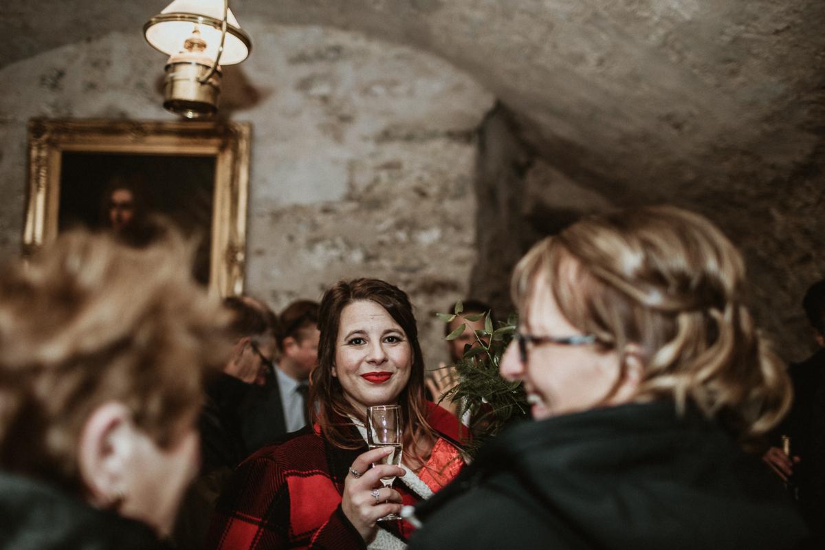 Wedding reception in the Scottish Castle