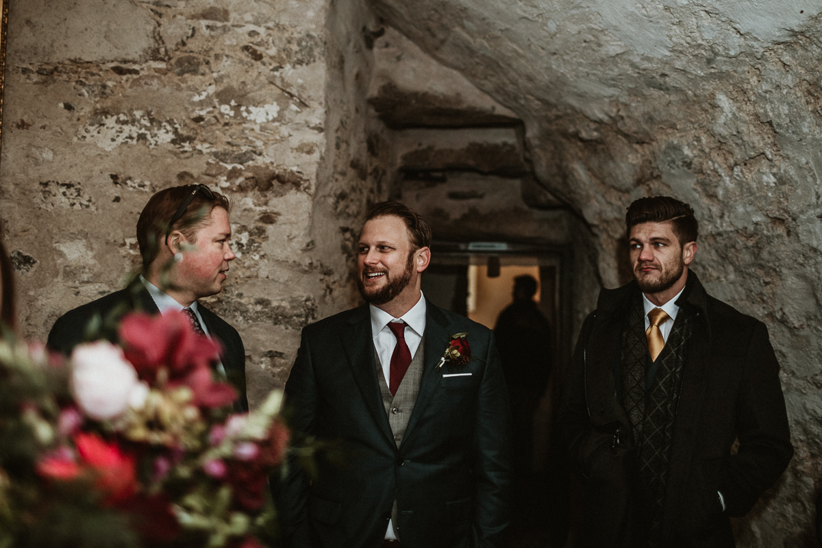 Wedding reception in the Scottish Castle Fraser