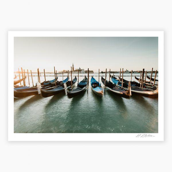 Gondolas Venice Photography Prints