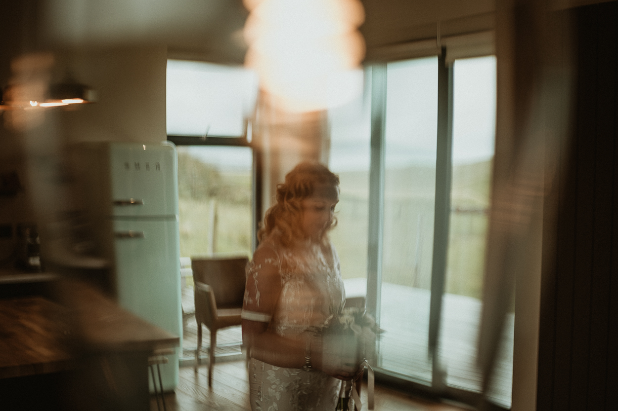 Portrait of a bride by Isle of Harris Wedding Photographer