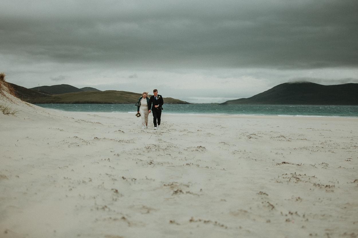 Scottish elopement on Luskentyre beach