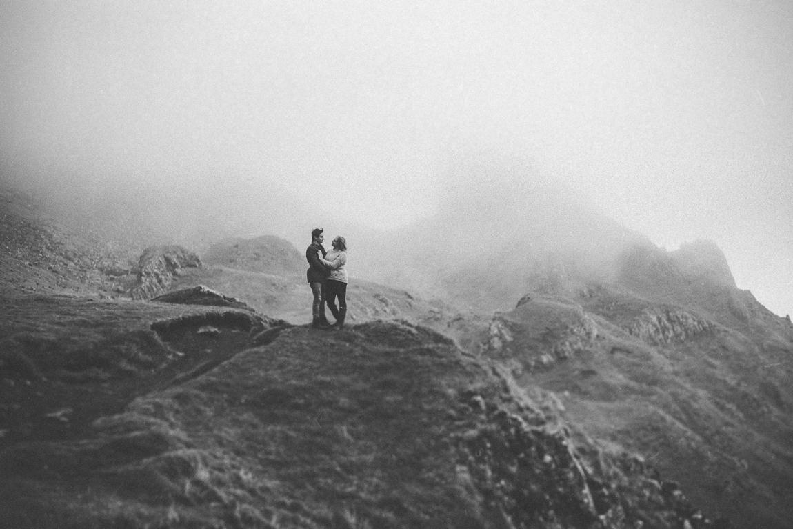 Black and white photo, Quiraing, Isle of Skye